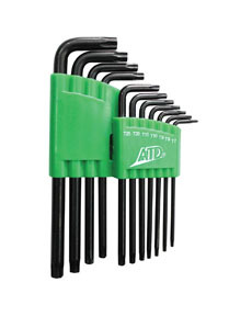 586 by ATD TOOLS - Star Long Arm Key Set, 11pc