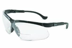 S3763 by UVEX - Genesis Reading Magnifiers Safety Eyewear, Black Frame, Clear