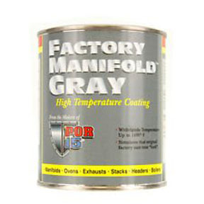 44216 by ABSOLUTE COATINGS (POR15) - High Temp, Manifold Gray, 8 oz.