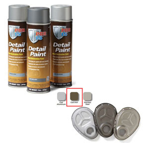 41718 by ABSOLUTE COATINGS (POR15) - Detail Paint Cast Iron, 15 oz. Spray
