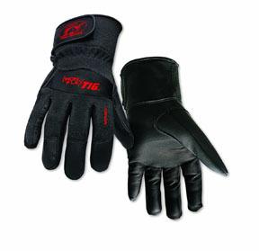 0260L by STEINER - SPS Ironflex TIG Gloves, Black Grain Kidskin Nomex Back Velcro Cuff, Lg