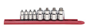 "80291 by GEARWRENCH - 8 Pc. 1/4"" & 3/8"" Drive SAE Stubby Hex Bit Socket Set"