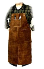 "92166 by STEINER - Bib Apron, Weld-rite Premium Brown Split Cowhide, 24"" x 42"""