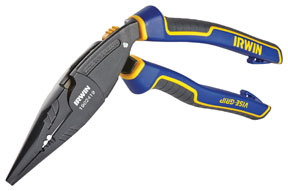"""1902419 by IRWIN VISE-GRIP - 8"""" Ergomulti Long Nose Pliers with  Wire Stripper & Wire Crimper"""