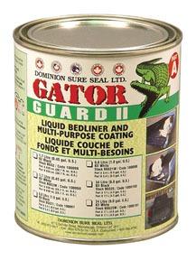 BGG2 by DOMINION SURE SEAL - Gator Guard II Epoxy Liquid Bedliner Kit - Black, 1.7L