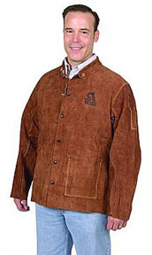 9215-M by STEINER - Brown Leather Weld Jacket, Md