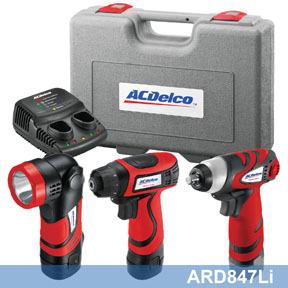 ARD847LI by ACDELCO - Li-ion 8V 3-in-1 Combo Kit