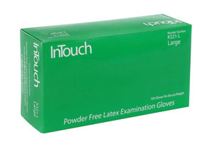 K321-M by ATLANTIC SAFETY PRODUCTS - InTouch™ Powder Free Latex Exam Gloves, Medium