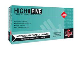 N202-M by MICROFLEX - Safety Series Nitrile Powder-Free Industrial-Grade Gloves, Blue, Medium