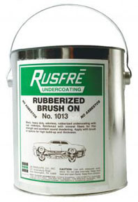 1013 by RUSFRE - Brush-On Rubberized Undercoating, 1-Gallon