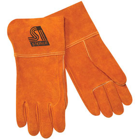 "0214L by STEINER - MIG Welding 4"" Gloves, Side split cowhide, Lg"