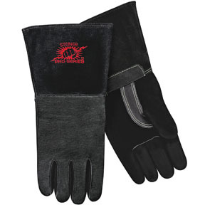 P760X by STEINER - MIG Gloves Black SPS Pigskin Palm, Foam Lined Back, X-Lg