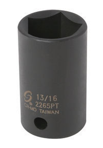 "2265PT by SUNEX TOOLS - 1/2"" Drive, 5 Pt. Impact Socket, 13/16"""
