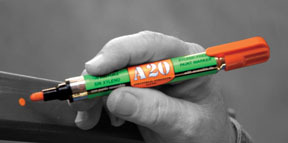 10701 by U-MARK INC - Greenlabel Paint Marker A20, Black w/ Reversible Tip