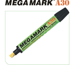 BON10705 by U-MARK INC - MegaMark Broad Tip Marker A30, White