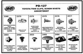 PD-127 by W & E SALES CO., INC. - Toyota-Trim Clips & Screw Rivets Assortment