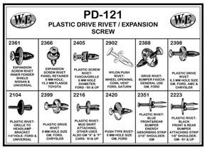 PD121 by W & E SALES CO., INC. - Plastic Drive Rivet/Expansion Screw