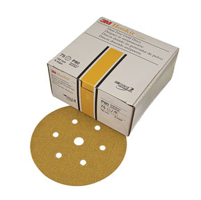 "1073 by 3M - Hookit™ Gold Disc D/F 01073 6"" P400A 100 discs/bx"