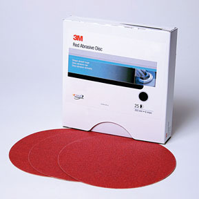 1110 by 3M - Red Abrasive Stikit™ Disc 6 in P240 100 discs per roll