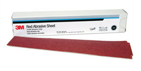1179 by 3M - Red Abrasive Hookit™ Sheet 2 3/4 in x 16 1/2 in P180 25 sheets per box