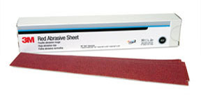 1180 by 3M - Red Abrasive Hookit™ Sheet 2 3/4 in x 16 1/2 in P150 25 sheets per box
