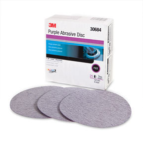30684 by 3M - Purple Abrasive Disc 6in 80E 25 discs per box 4 per box