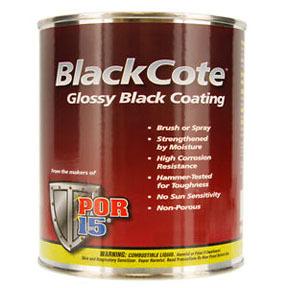 45808 by ABSOLUTE COATINGS (POR15) - POR-15® Top Coat Gloss Black Pint