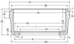 3754AX by ACCURIDE - Gunite Drum - DRUM 15X4  8 HOLE