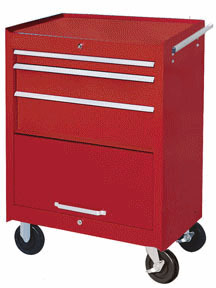 "7110RD by ATD TOOLS - TOOL BOX CAB-27"" 3-DRWR-RED"