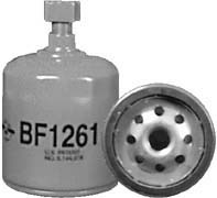 BF1261 by BALDWIN - Fuel/Water Separator Spin-on with Drain