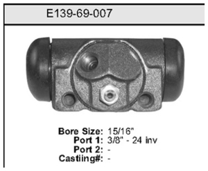 E13969007 by BENDIX - Wheel Cylinder