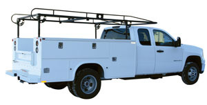 1501210 by BUYERS PRODUCTS - Black Long Utility Body Ladder Rack