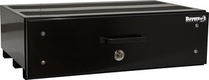 1718310 by BUYERS PRODUCTS - Black Aluminum Slide Out Truck Bed Box 9x48x20 in.