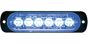 8891904 by BUYERS PRODUCTS - Rec. Blue LED Thin Mount Horizontal Strobe Light, 12-24V