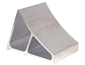 WC7118A by BUYERS PRODUCTS - Large Extruded Aluminum Wheel Chock 6x8.75x5.86 Inch