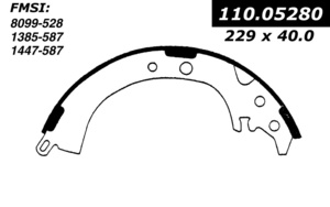 111.0528 by CENTRIC - Premium Brake Shoes