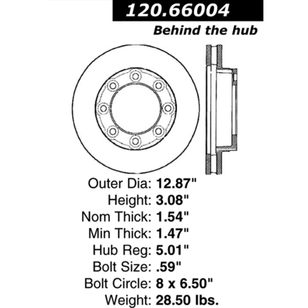 By centric premium brake rotor for 66004