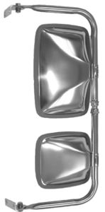 40401 by CHAM-CAL - Step Van Mirror Assembly, Stainless Steel
