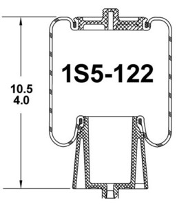 1S5-122 by CONTINENTAL - [FORMERLY GOODYEAR] Air Spring Sleeve