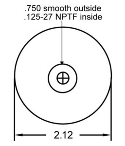 1S5-174 by CONTINENTAL - [FORMERLY GOODYEAR] Air Spring Sleeve