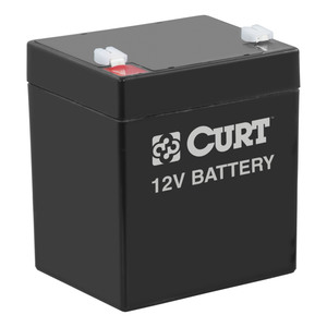 52023 by CURT MANUFACTURING, LLC. - CURT 12V 5.4 AMP RECHARGABLE BATTERY