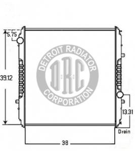 FR50 by DETROIT RADIATOR CORP - RADIATOR for Freightliner FR50
