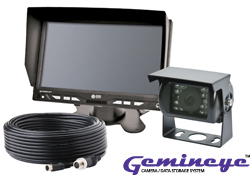 """K7000B by ECCO - Gemineye Backup Reverse Monitor Color Camera System with 7"""" LCD Color Monitor"""