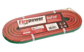 """1412-0012 by FIREPOWER - Grade """"R"""" Acetylene Dual Welding Hose 12.5ft"""