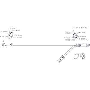 01-6605-X4 by GROTE - TRAILER WIRING, INTERMEDIATE MAIN HARNESS