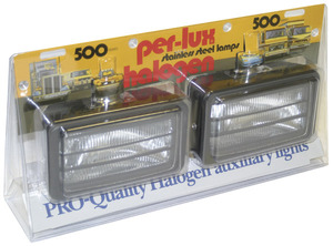 05301-5 by GROTE - Per-Lux® 500 Series Fog and Driving Lamps, All Weather Louvered, H9421, Pair Pack, Powder Coated