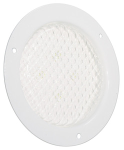 61141 by GROTE - 4″ Round Flange-Mount LED Dome Lamp, White