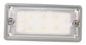 61861 by GROTE - Courtesy and Dome Rectangular LED Lamp, Courtesy, Rectangular, 6 Diodes, Flush-Mount 9 to 30-Volt, 300 Lumens, White