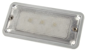 61871 by GROTE - Courtesy and Dome Rectangular LED Lamp, Courtesy, Rectangular, 3 Diodes, Flush-Mount 9 to 30-Volt, 150 Lumens, White