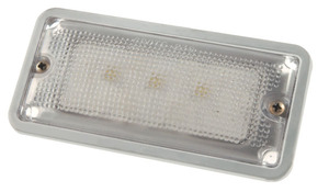 61961 by GROTE - Courtesy and Dome Rectangular LED Lamp, Courtesy, Rectangular, White, 10 to 16-Volt, 3 Diodes, 150 Lumens, White